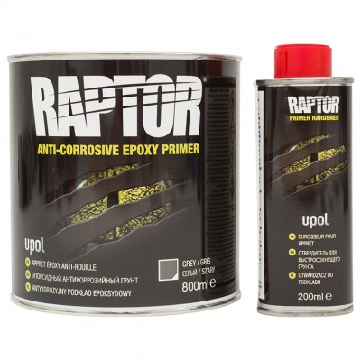 Raptor Grund Epoxy Anti-Coroziv kit 1Litru