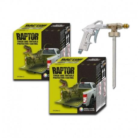 Pachet PROMO 2 x Kit Raptor Negru, 3,8 Litri + Pistol VARIO