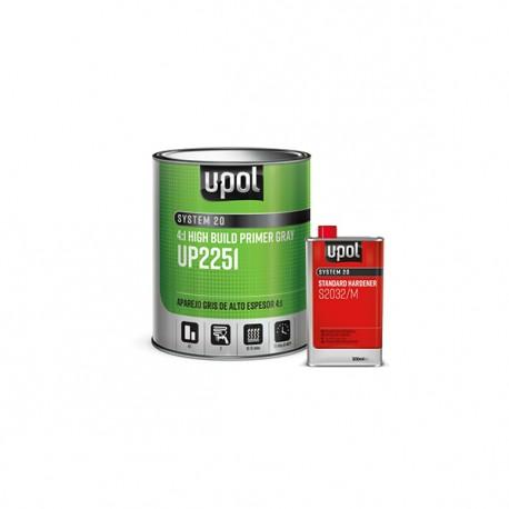 Set Primer - Filer, U-POL UHS, Negru, 1 Litru + Catalizator 250 ml