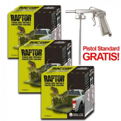 Pachet PROMO 3 x Kit Raptor Colorabil, 3,8 Litri + Pistol...